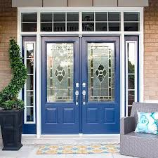 New England Navy Painted Front Door Project by DecoArt