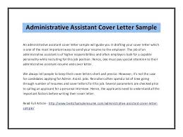 Sample Cover Letter For Administrative Assistant Top Free Resume