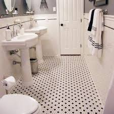 amazing black and white hexagon bathroom floor tile voodoobash me