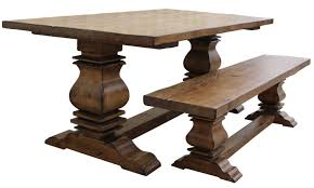 Old Wood Dining Room Table by Furniture Awesome Rectangle Dining Table With Bench Design