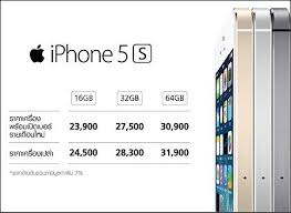 Confirmed Prices for iPhone5s and 5c in Thailand – Richard Barrow