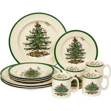 Spode Christmas Tree Mugs With Spoons by Costco Spode Christmas Tree 12 Pc Dinnerware Set Holiday Ideas