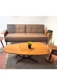 hermes leather and walnut sofa velvet studio