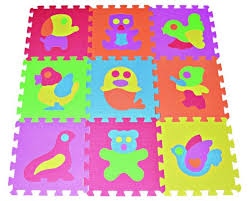 Baby Play Mat Foam Floor Animal Puzzle 9 Tiles Kids Toddler