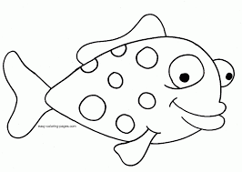 Little Fish Coloring Pages Printable Sheet Anbu