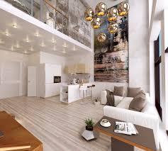 living room modern atrium living room features artwork for
