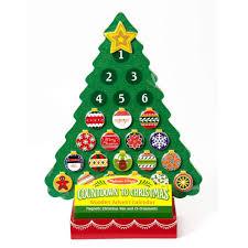 Amazon Melissa Doug Countdown To Christmas Wooden Advent Calendar