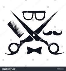Barber Shop Hair Design Ideas by Barbershop Logo Scissors Mustache Comb Barbershop Stock Vector
