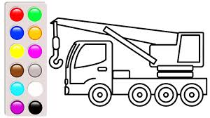 100 Construction Truck Coloring Pages Crane Truck Coloring Pages Learn Colors With Construction Truck