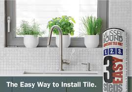 musselbound adhesive tile mat is ideal for kitchen backsplashes
