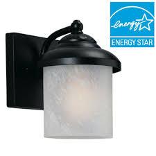 sea gull lighting yorktown 1 light black outdoor wall mount