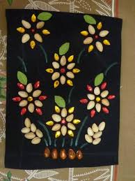 Wall Hanging Made Using Pista Shells My Crafts T