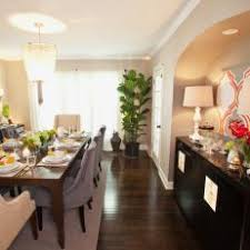 Formal Dining Room With Sleek Black Buffet