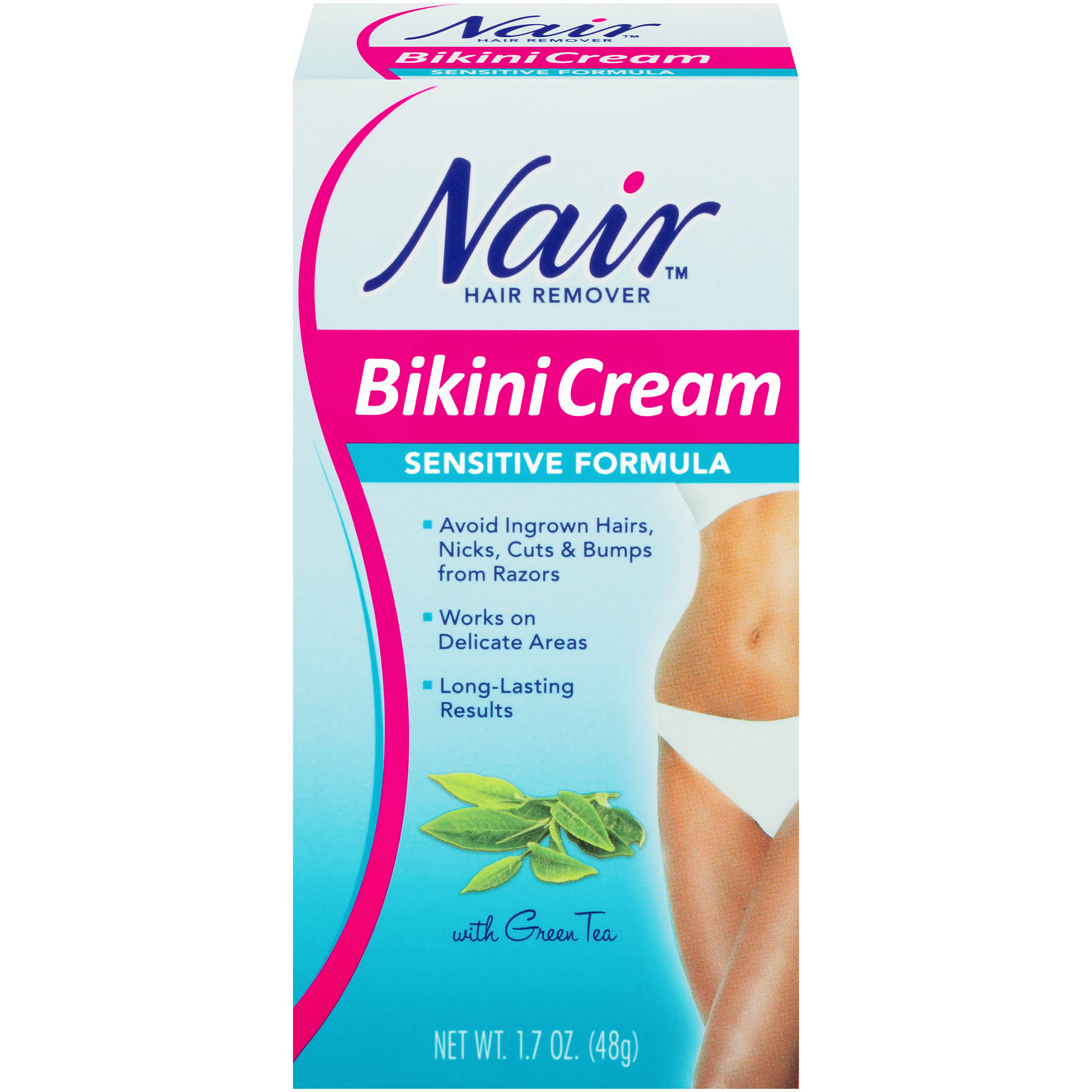 Nair Bikini Cream Hair Remover - Sensitive Skin Formula, 1.7oz