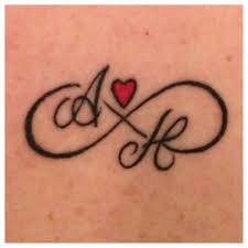 Infinity Symbol Tattoo With My Twins Initials Tattoo Ideas