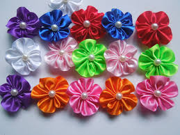 DIY Make Simple Ribbon Flowers