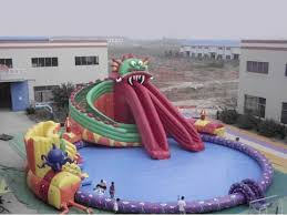 Inflatable Pool With Slides For Sale