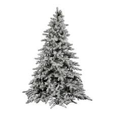 Flocked Utica 9 Green Fir Artificial Christmas Tree With Unlit Stand