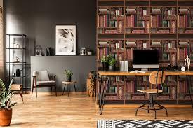 bücher tapete edem 81155br28 heißgeprägte vliestapete bibliothek bücherregal matt braun smaragd grün wein rot grau blau 10 65 m2