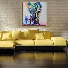 60cm watercolor elephant inkjet frameless canvas paintings