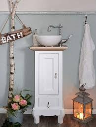 waschtisch gäste bad landhaus waschbecken mit unterschrank