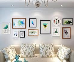 foto wandrahmen wohnzimmer holz foto wand ideen kombination