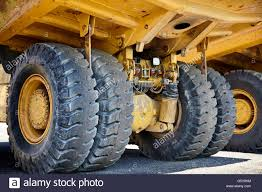 Heavy Equipment Industrial Mining Truck Suspension Stock Photo ...