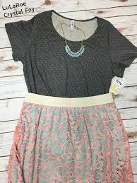 lularoe of the day grey polka dot classic tee paired with