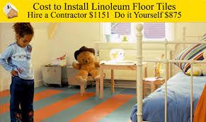 cost to install linoleum floor tiles