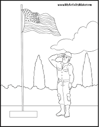 Flag Coloring Page 2
