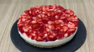 erdbeer frischkäse torte kuchen ohne backen