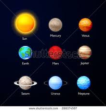 Vector Illustration Solar System Objects All Stock Vector