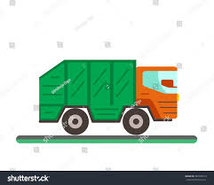 Garbage Truck Illustration Waste Disposal Flat Stock Vector (Royalty ...