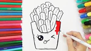 How To Draw cute French Fries Cute and Easy