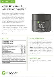 IT WORKS HSN Hair Skin Nails Powerhouse Of Ingredients To Help Nourish