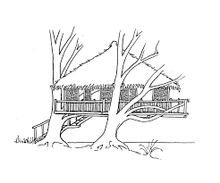 Coloring Page Tree House Buildings And Architecture 19