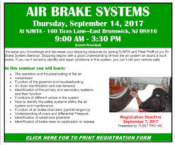 New Jersey Motor Truck Association - AIR BRAKE SYSTEMS WORKSHOP Bendix Air System Diagram Data Wiring Taiwan Heavy Duty Truck Parts Industry Co Ltd Over Hydraulic Brakes 12 Historic Commercial Vehicle Club Railway Air Brake Wikipedia The Brake Cylinder Of A Large Lorry Stock Photo Picture Semi Compressor Best Resource Truck Disc Pads Replacing How To Replace On Tank Tanks For Trucks And Trailers Abs Cadillac Semi Specialist Parts Combined Abi Eboard Flyer