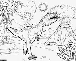 Jurassic World T Rex Printable Coloring Page