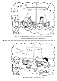 Jesus And The Fisherman Coloring Page Book Flannelgraph Fish More