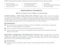 Criminal Justice Internship Resume Sample Parole Officer Resumes Templates Police Template Format For
