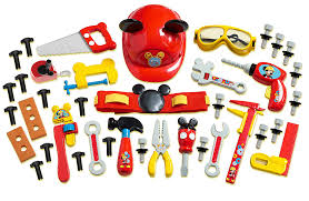 Mickey Mouse Bathroom Set Amazon by Amazon Com Mickey Mouse Deluxe Tool Set Toys U0026 Games
