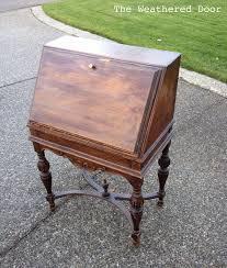 Antique Secretarys Desk by An Antique Secretary Desk In A Deep Teal The Weathered Door