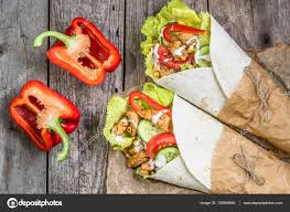 cuisine tex mex burritos tortilla wraps with fresh vegetables and grilled