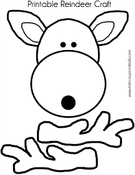 Reindeer Head Coloring Pages Free