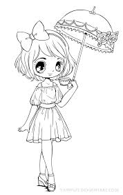 Umbrellagirl Lineart By YamPuff On DeviantART Coloring PagesAdult