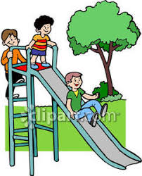 Playground Clipart Children Playing On A Slide At Royalty 2I6wap