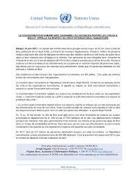 bureau du coordonnateur le coordonnateur humanitaire condamne les violences envers les