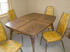 Vintage Diner Table Set Retro Kitchen And 4 Chairs W Leaf