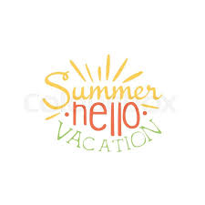 Touristic Agency Colorful Ad Summer Beach Holiday Promotion Banner Cool Calligraphic Hand Drawn Vector Advertisement For Travel