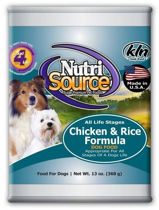 NutriSource Chicken and Rice Canned Dog Food - 13oz